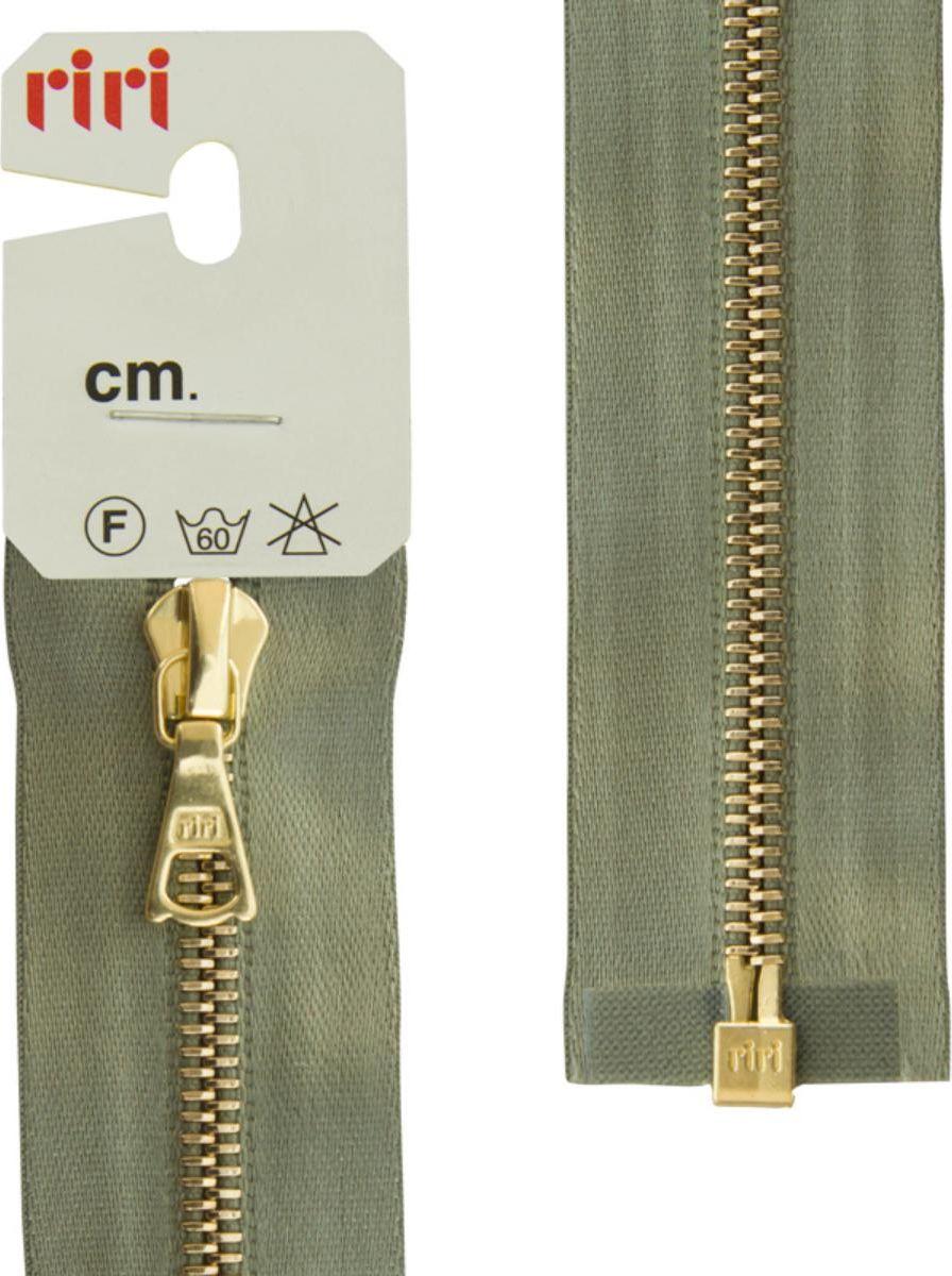 Молния Riri Gold, разъемная, 1 замок, на атласной тесьме, цвет: серо-зеленый (5884), 65 х 0,4 см молния riri gold разъемная 1 замок на атласной тесьме цвет голубовато серый 9112 65 х 0 4 см