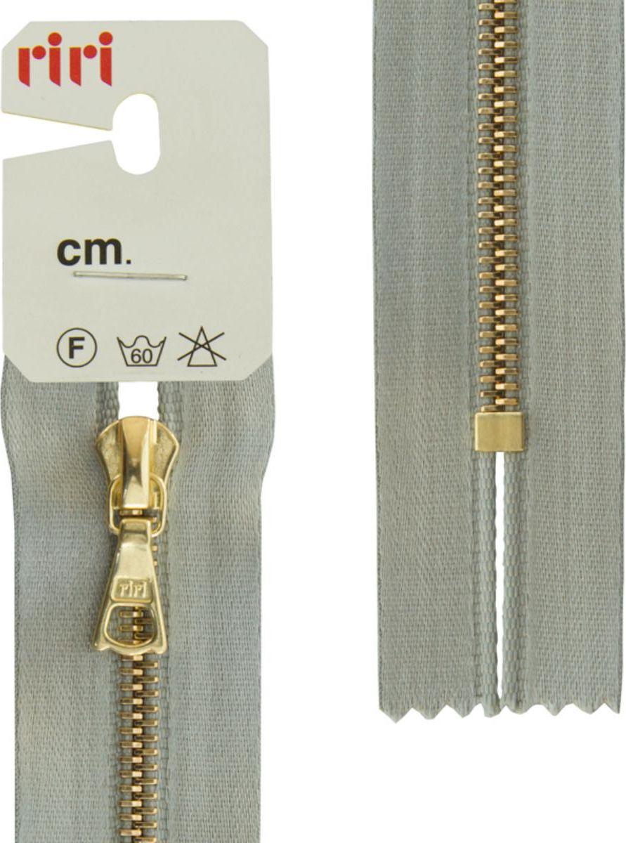 Застежка-молния Riri Gold, неразъемная, на атласной тесьме, цвет: голубовато-серый (9112), ширина 4 мм, длина 16 см молния riri gold разъемная 1 замок на атласной тесьме цвет голубовато серый 9112 65 х 0 4 см