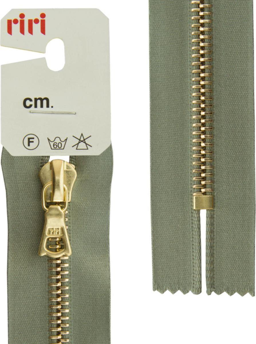 Застежка-молния Riri Gold, неразъемная, на атласной тесьме, цвет: серо-зеленый (5884), ширина 6 мм, длина 16 см молния riri ni карманная неразъемная на атласной тесьме цвет синий 9603 16 х 0 6 см