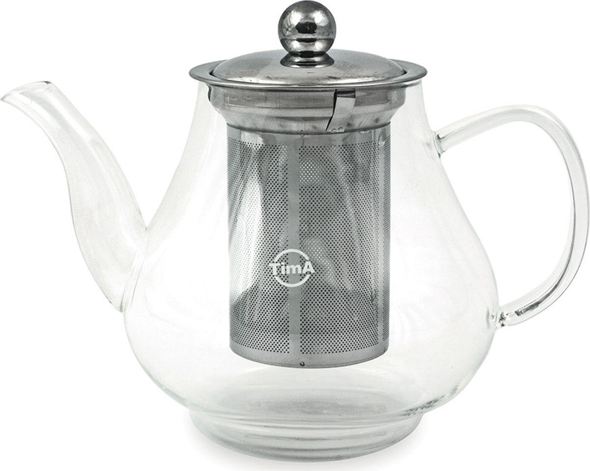 Чайник заварочный TimA Каркаде, с фильтром, 1 л заварочный чайник tima tl 100