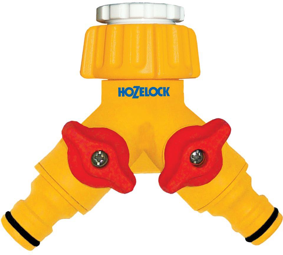 """Коннектор """"HoZelock"""", для крана двойной, 1/2""""-3/4"""", 12,5 и 19 мм"""