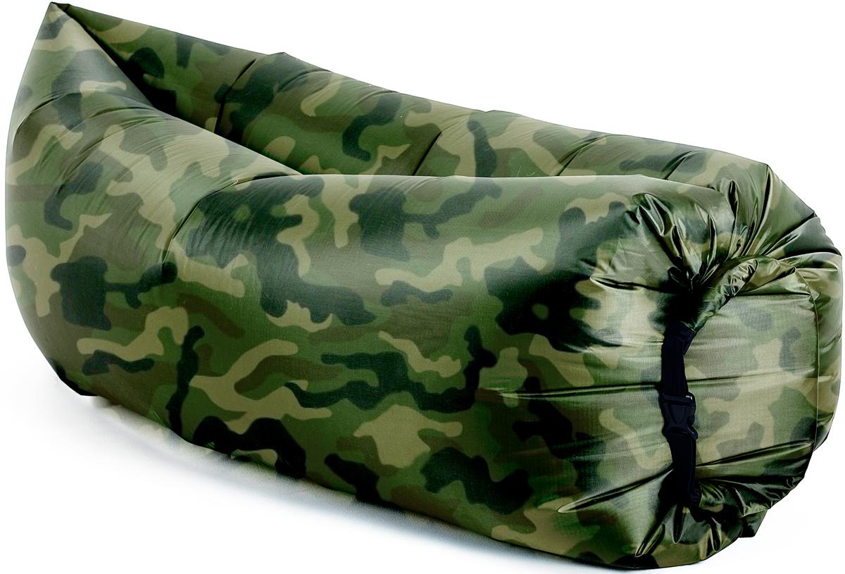 Биван классический, надувной диван, цвет: хаки