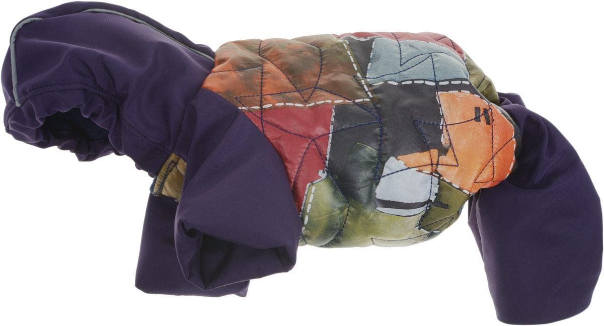 Куртка со штанами для собак GLG Столица, цвет: черный, серый, оранжевый. Размер L дождевик прогулочный для собак glg цветок цвет темно синий размер l