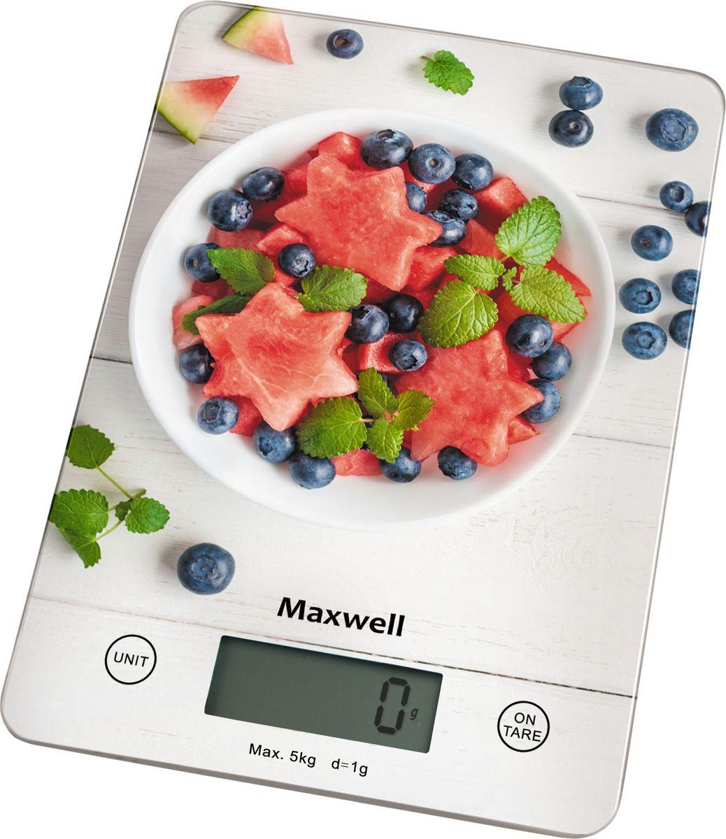 Кухонные весы Maxwell MW-1478(MC) весы кухонные maxwell mw 1476 w белый рисунок