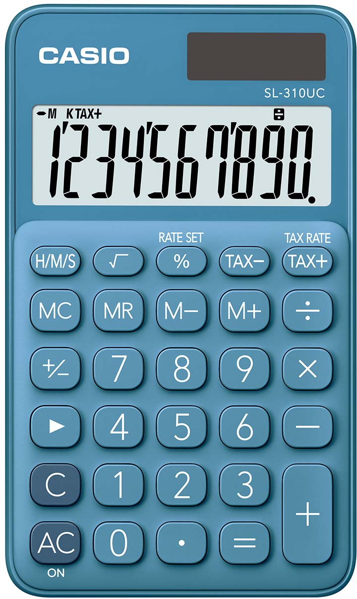 Casio калькулятор карманный SL-310UC-BU-S-EC цвет синий