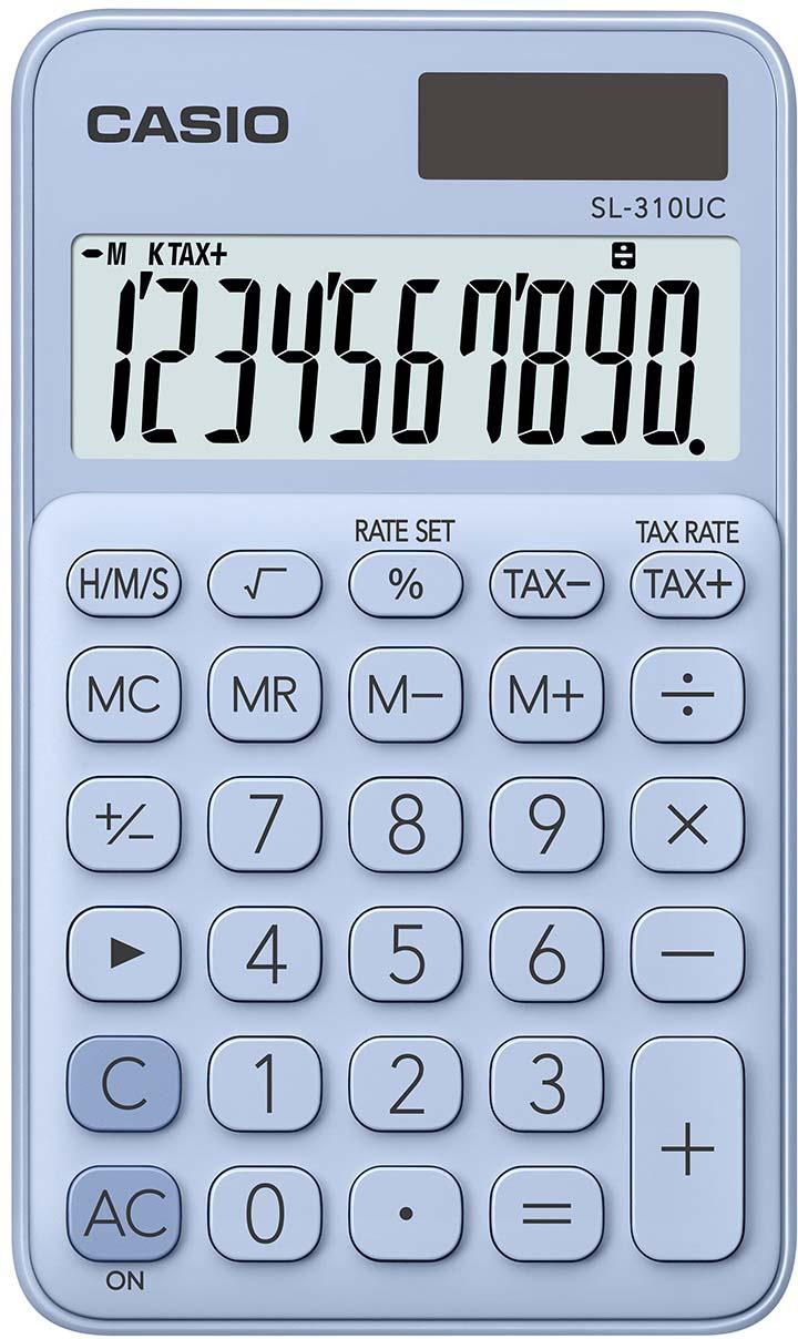 Casio калькулятор карманный SL-310UC-LB-S-EC цвет светло-голубой
