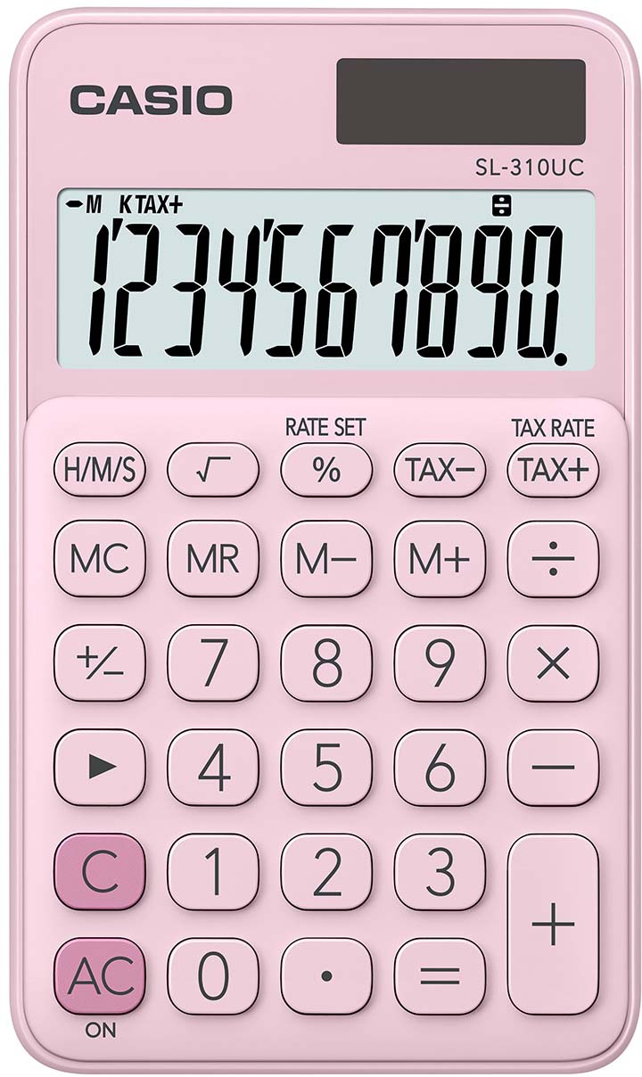 Casio калькулятор карманный SL-310UC-PK-S-UC цвет розовый