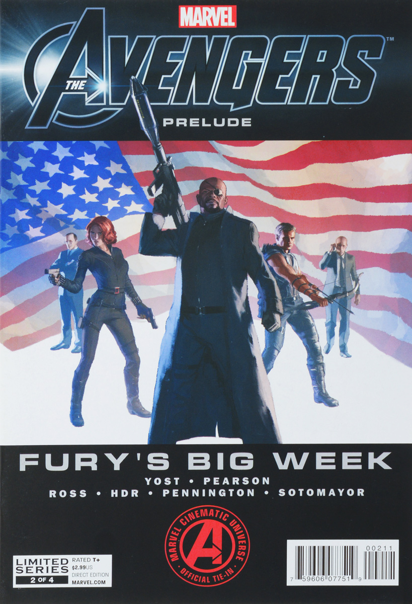 Yost C., Pearson E., Ross L. Avengers Prelude: Fury's Big Week #2 week planner wall decal