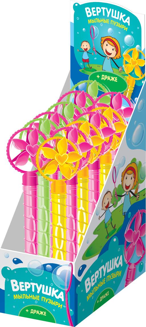 Конфитрейд Лето драже с игрушкой вертушкой для пускания мыльных пузырей, 5 г конфитрейд лето водный пистолет драже с игрушкой 5 г