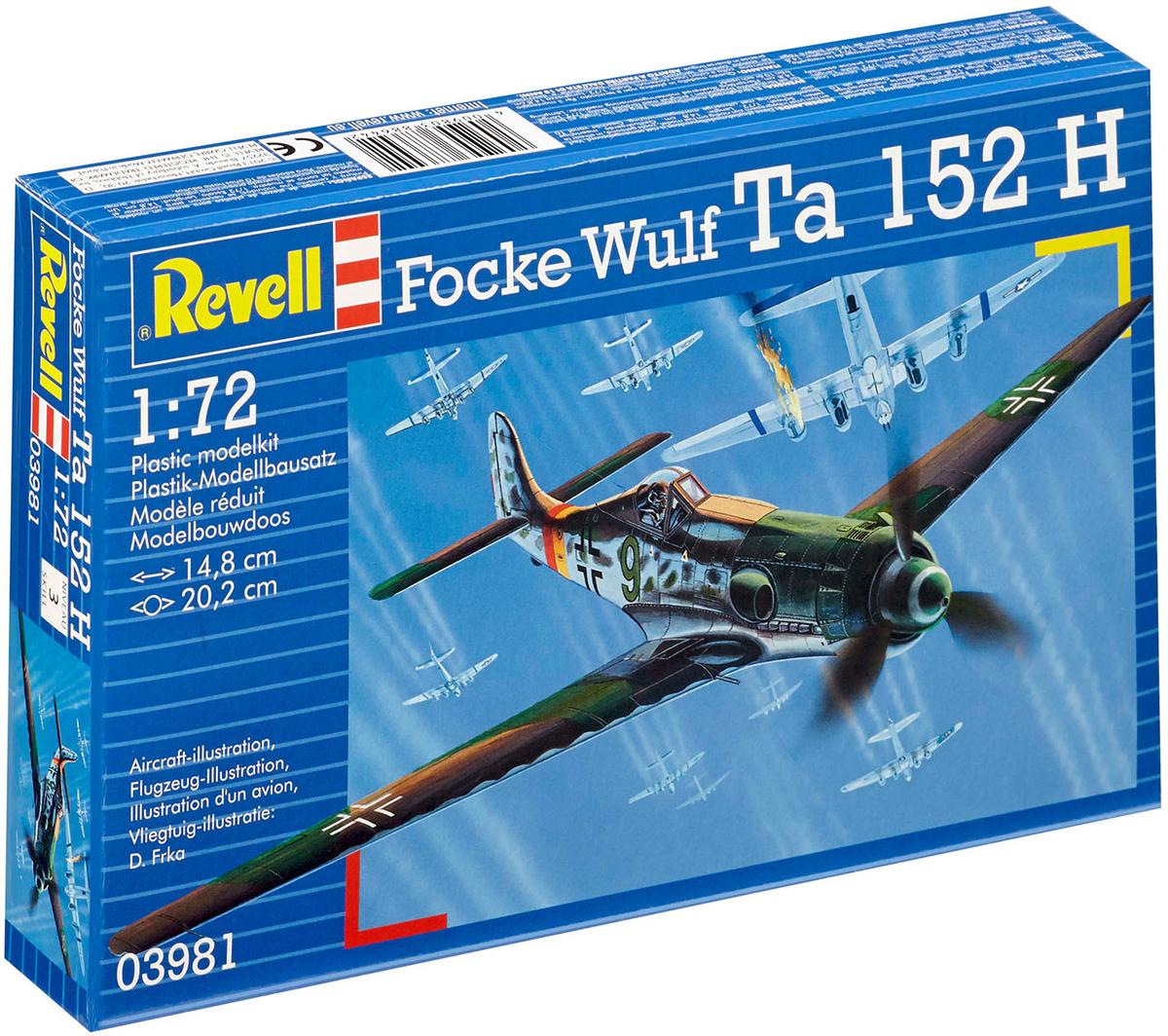 RevellМодель для сборки Сборная модель немецкого самолета Focke Wulf Ta 152 H Revell