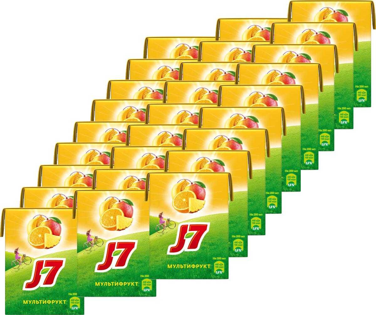 J-7Мультифрукт сок осветленный, 27 шт по 0,2 л J-7