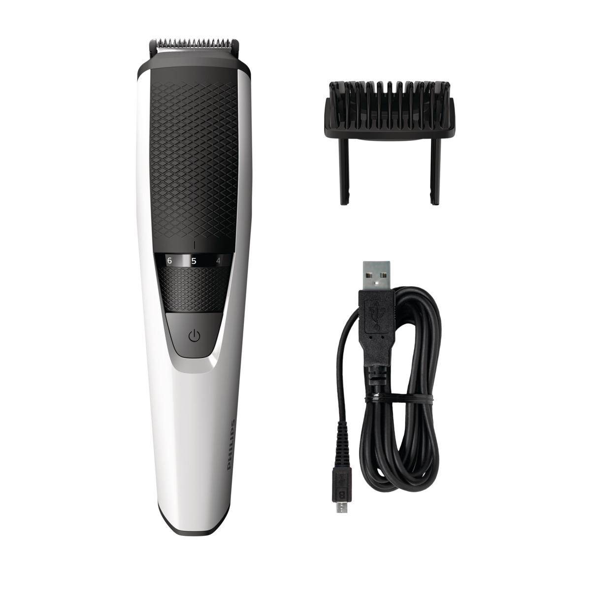 Триммер для бороды и усов Philips Series 3000 BT3202/14, Silver Black