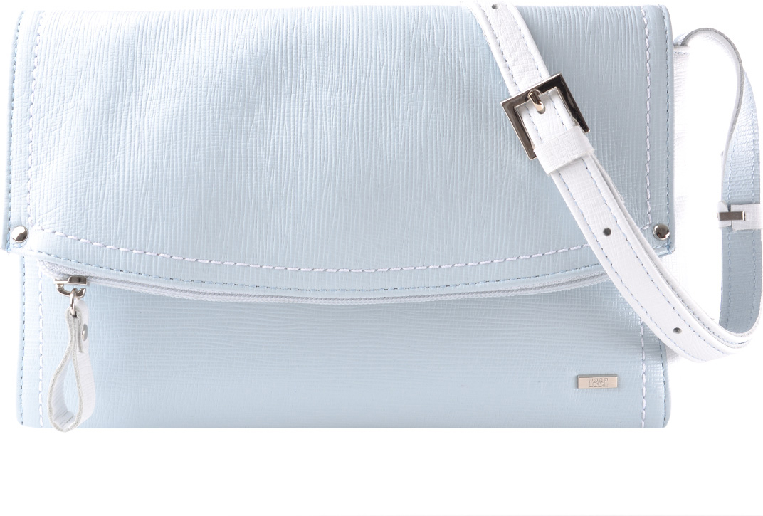Сумка женская Esse Мелани, цвет: светло-голубой. GMEL2U-00ML09-FF609O-K100 растение фикус эластика мелани д 12