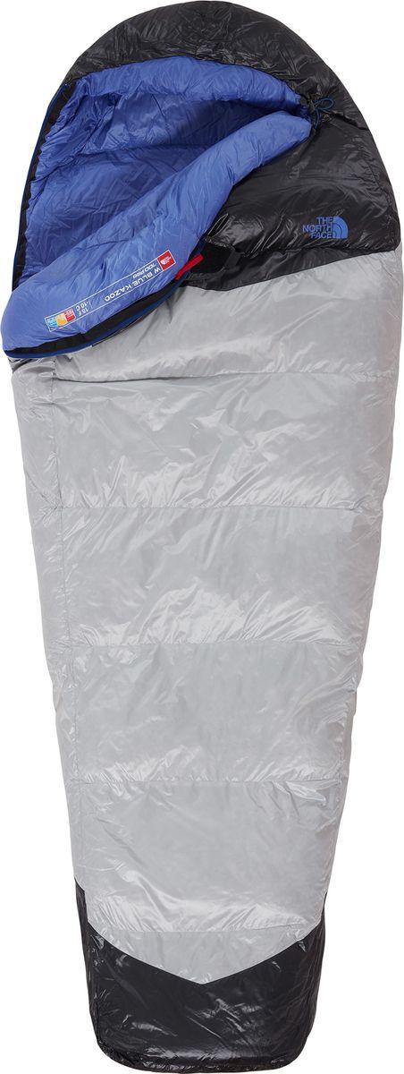 Мешок спальный The North Face W Blue Kazoo, женский, левосторонняя молния, цвет: серый, синий