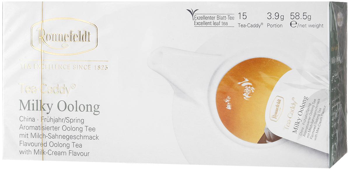 Ronnefeldt Молочный улун в пакетиках для чайника, 15 шт13190Натуральный сливочный вкус этого чая достигается благодаря его особой обработке: сначала обрабатывается паром с добавлением молока, затем чайный лист бережно скручивается. Этот чай по качеству и вкусу соответствует листовому чаю - ведь это и есть листовой чай, но уже порционированный для чайника. Чайные листья находятся в индивидуальном просторном пакетике, где они могут полностью раскрыться и превратить напиток в истинное наслаждение. Уважаемые клиенты! Обращаем ваше внимание на то, что упаковка может иметь несколько видов дизайна. Поставка осуществляется в зависимости от наличия на складе.