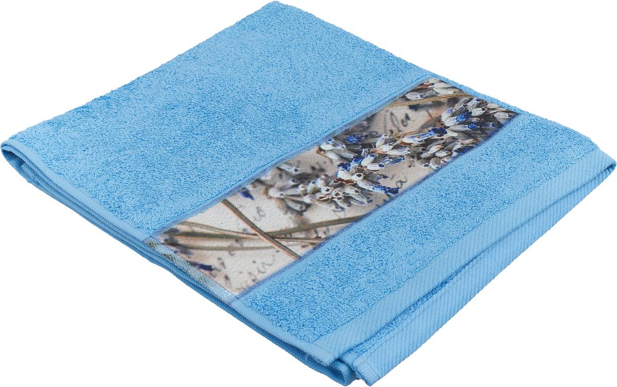 Полотенце банное Aquarelle Фотобордюр. Письмо, цвет: синий, 50 х 90 см. 712561 полотенце банное fiesta arabesca 50 90 см