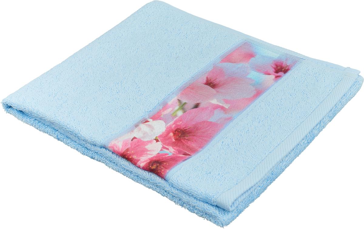 Полотенце банное Aquarelle Фотобордюр. Цветы 1, цвет: васильковый, 50 х 90 см. 709811 полотенце банное fiesta arabesca 50 90 см
