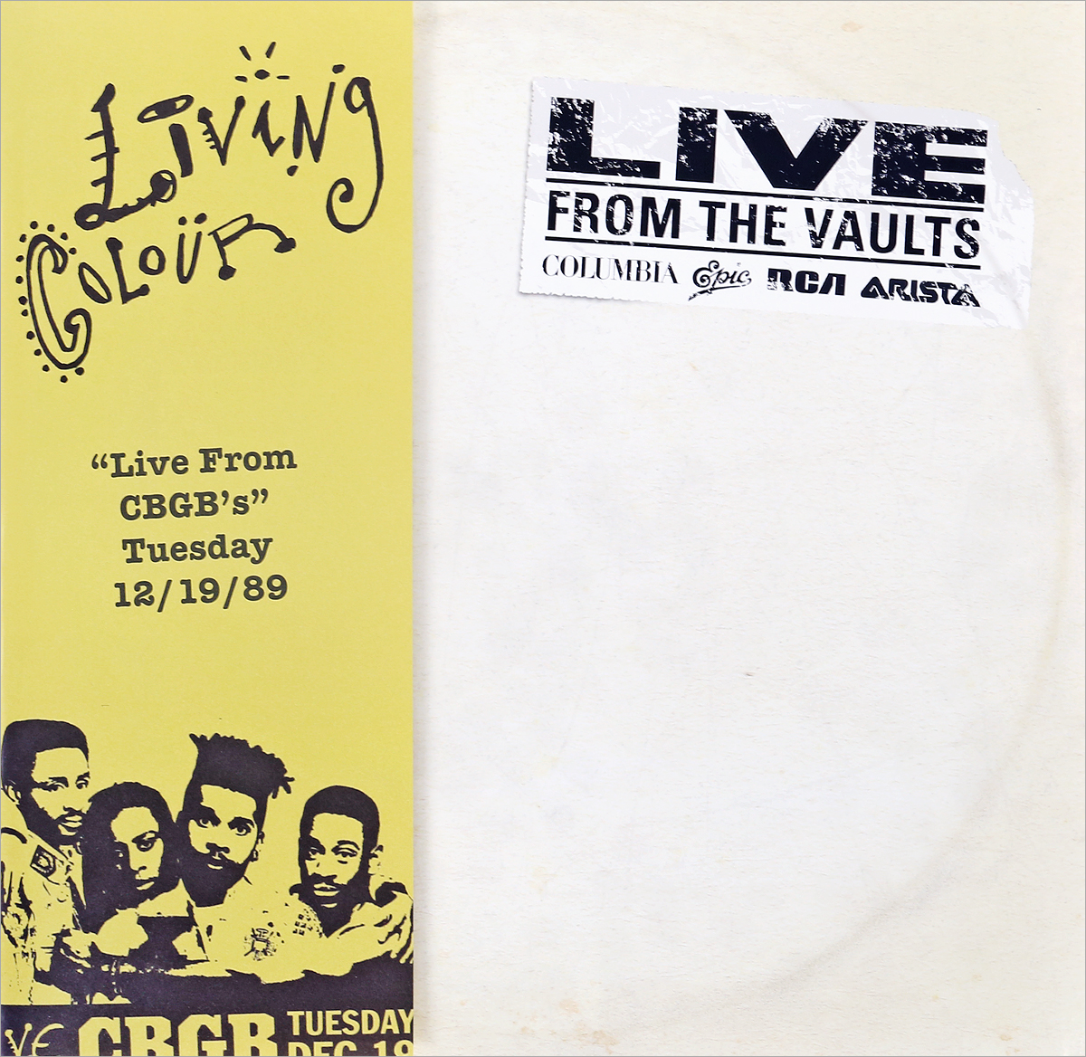 Living Colour Living Colour. Live At Cbgb's (2 LP) виниловая пластинка living colour live at cbgbs limited