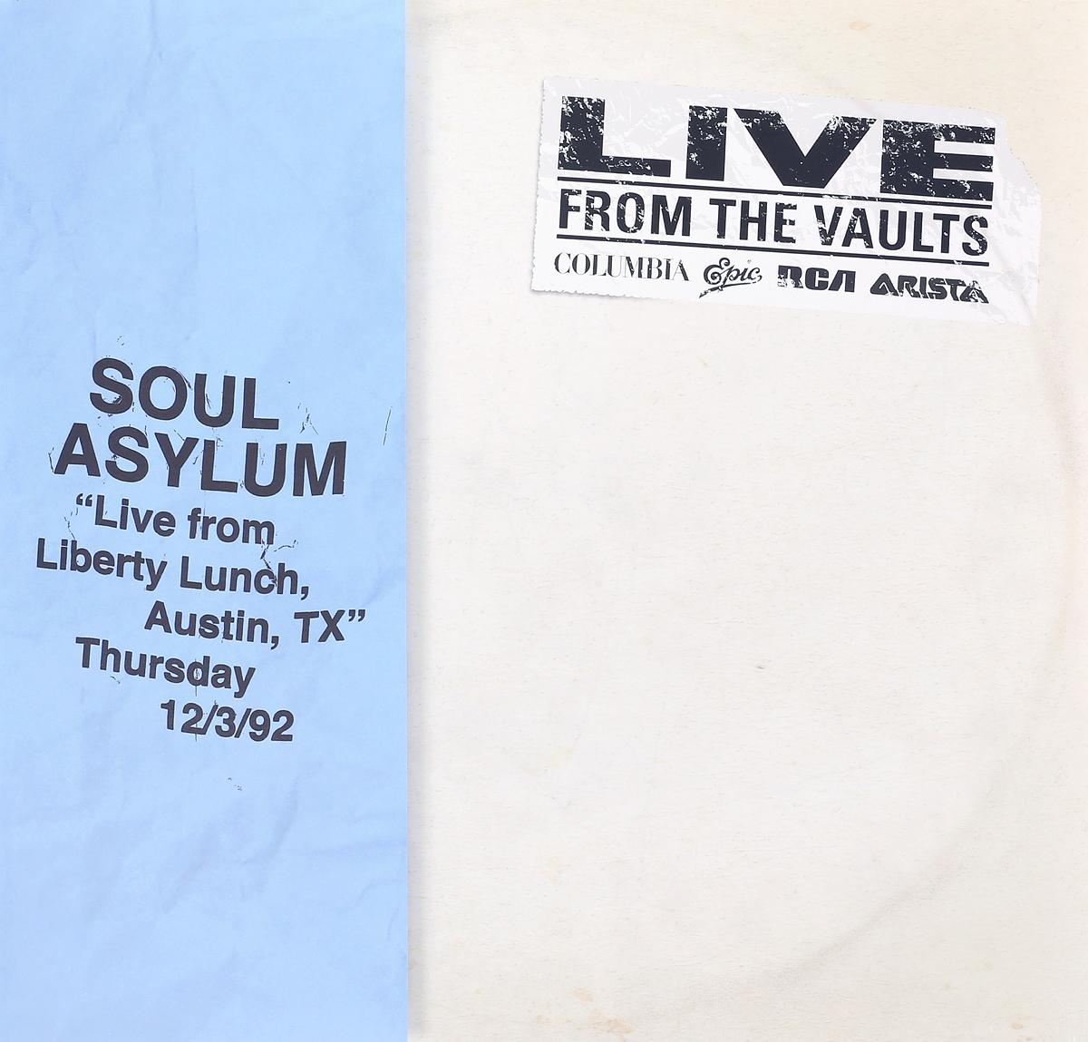 Soul Asylum Soul Asylum. Live From Liberty Lunch, Austin, TX, December 3, 1992 (2 LP) roux m asylum