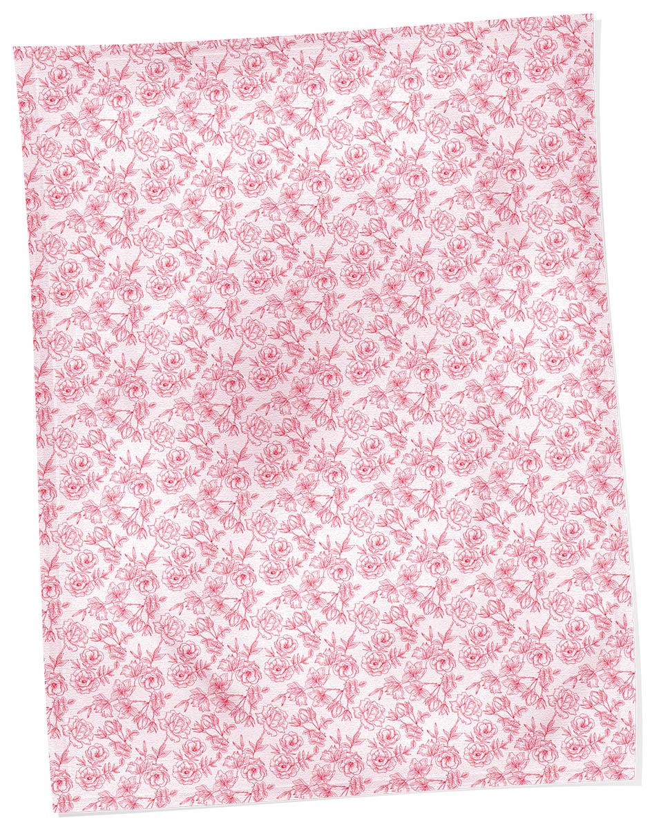 Плед Коллекция, набивной, цвет: белый, красный, 150 х 170 см. ОЗПД-150/3