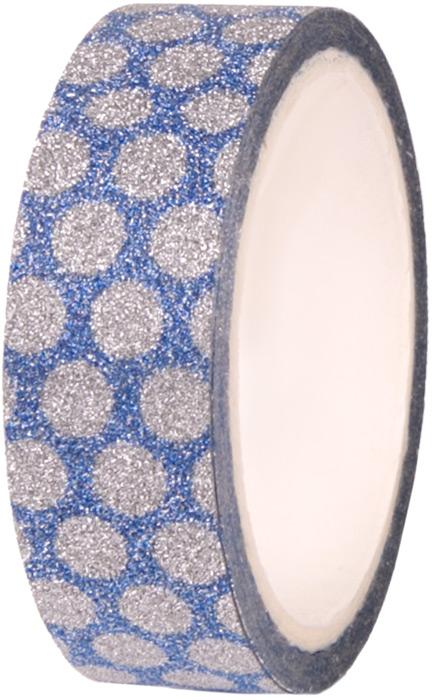 Лента декоративная Magic Home Сине-серебряная, самоклеящаяся. 7774777747Декоративная самоклеящаяся лента Сине-серебряная выполнена из полипропилена (акриловый клей на водяной основе). Ширина ленты 1,5 см, длина 4 м. С ее помощью можно преобразить любой предмет до неузнаваемости. Проявите фантазию, и украшенный своими руками подарок никого не оставит равнодушным!