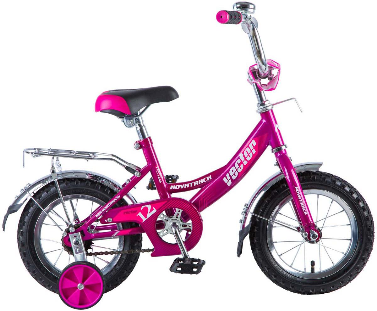 Велосипед детский Novatrack Vector, цвет: фиолетовый, 12