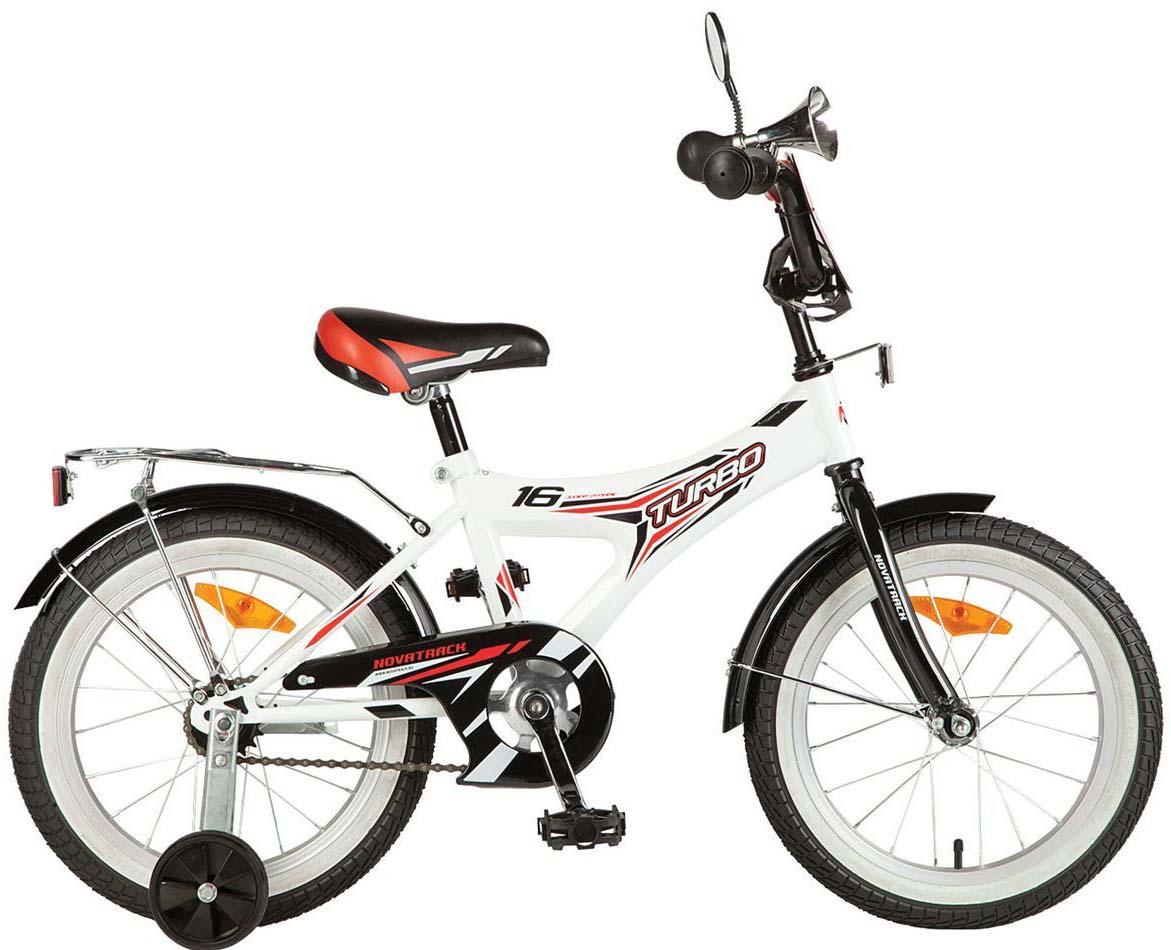 Велосипед детский Novatrack Turbo, цвет: белый, 16