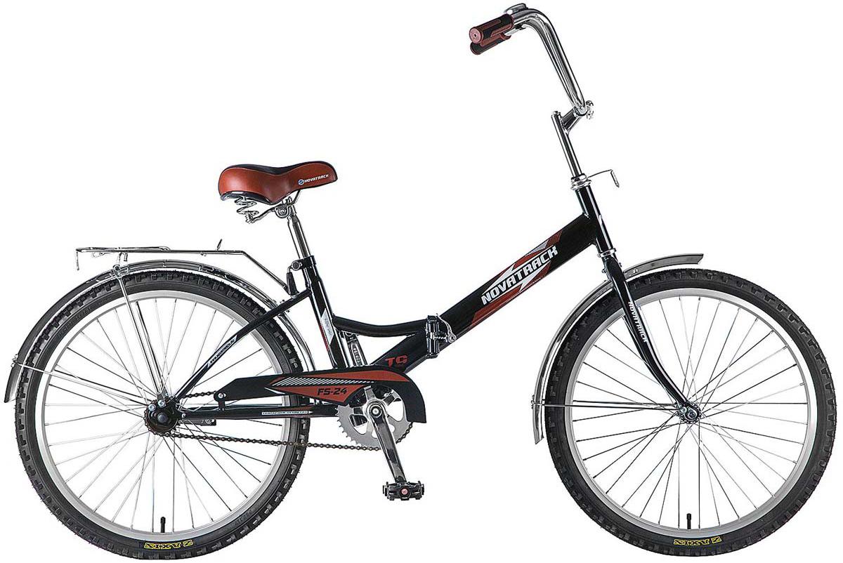 Велосипед складной Novatrack FS, цвет: черный, 24 велосипед детский novatrack action цвет черный 24