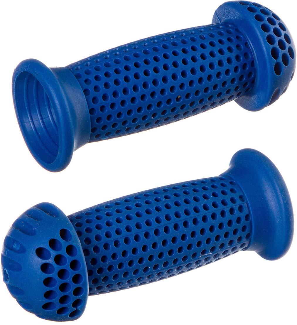 Грипсы-грибочки STG GR112, цвет: синий, для самоката и велосипеда, 100 мм, 2 шт