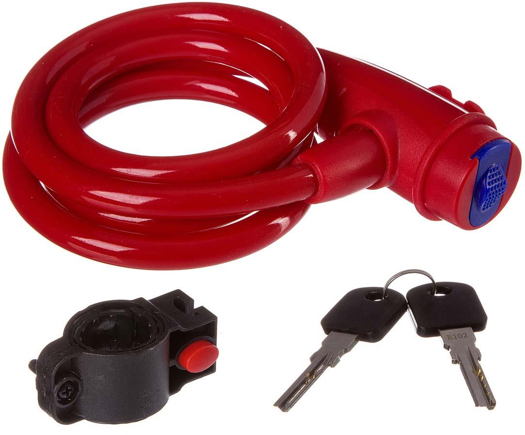 Велозамок на ключе STG TY596, цвет: красный