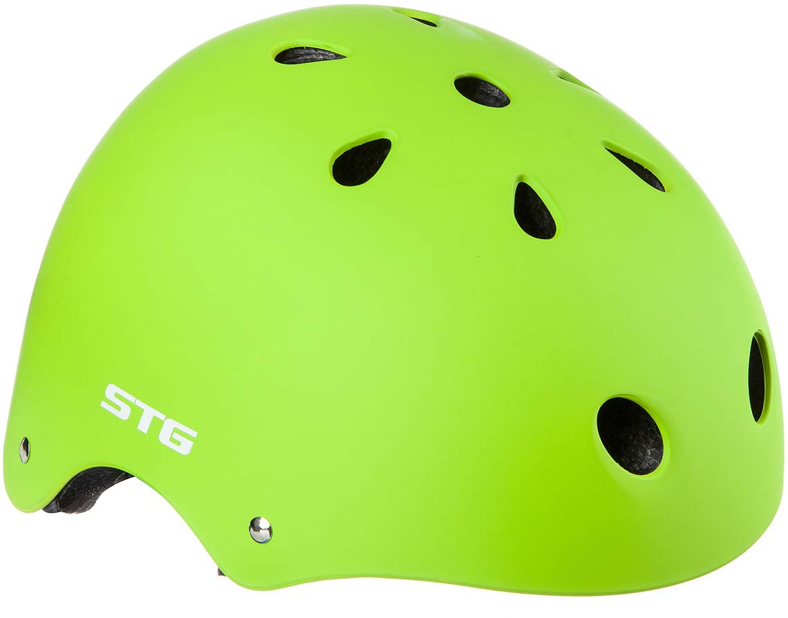 Шлем STG MTV12, цвет: салатовый. Размер M (55-58 см) велошлем bell intersect ретро дизайн m 55 59см черный оранжевый be7046582