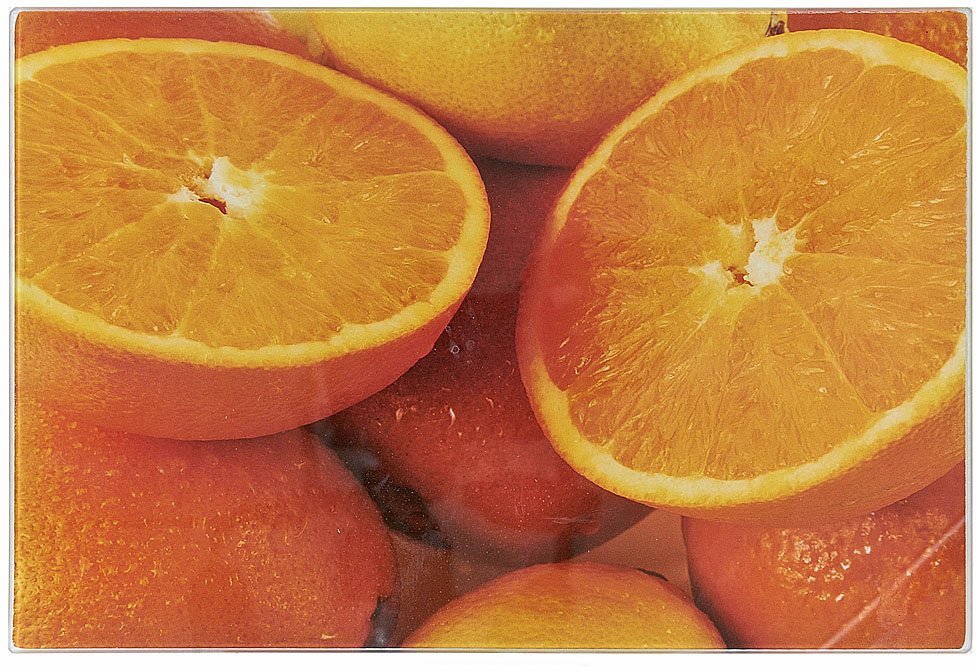 Доска разделочная Best Home Kitchen Апельсин, стеклянная, 40 х 30 х 0,5 см доска разделочная best home kitchen апельсин 40 30 см