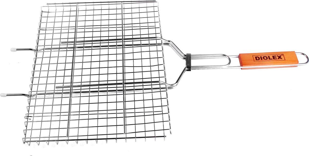 Решетка-гриль Diolex, цвет: серебристый, 35 х 26 см качурина т приготовление блюд из рыбы учебное пособие