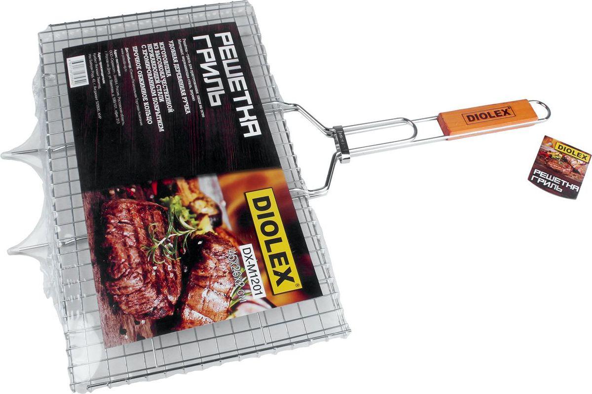 Решетка-гриль Diolex, цвет: серебристый, 45 х 26 см качурина т приготовление блюд из рыбы учебное пособие