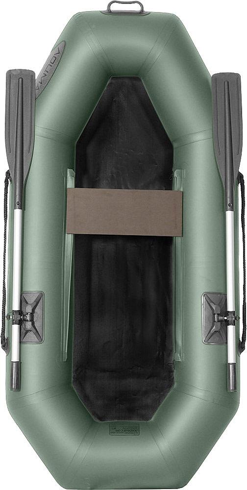 Лодка гребная Лоцман С-200, надувная, цвет: зеленый