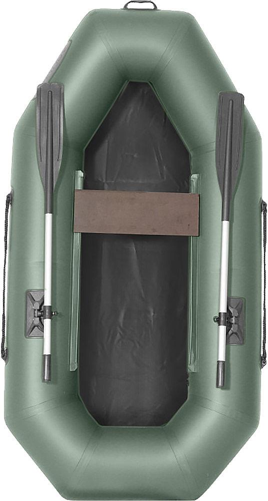 Лодка гребная Лоцман С 220, надувная, цвет: серый