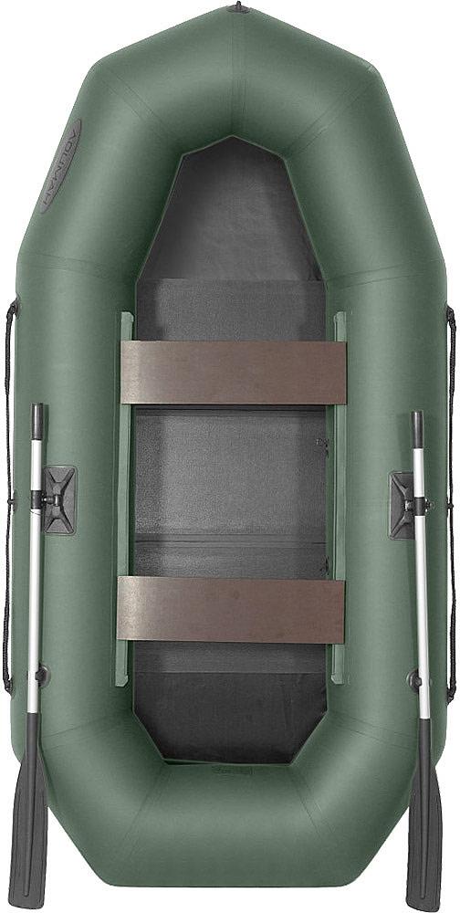 Лодка гребная Лоцман С 260 М, надувная, цвет: зеленый