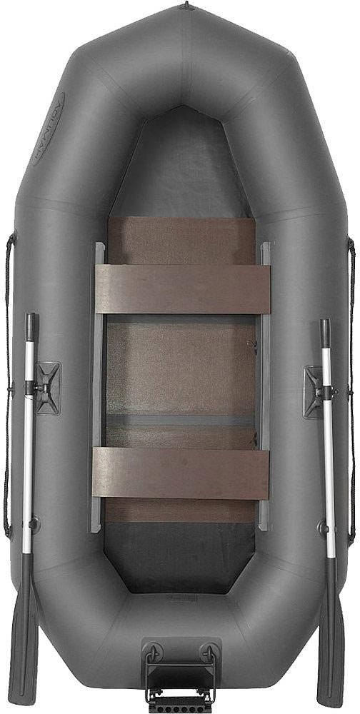 """Лодка гребная Лоцман """"С 260 М П РС"""", надувная, цвет: серый"""