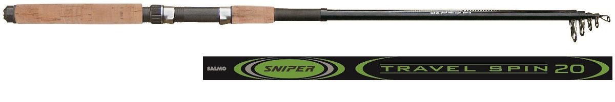 Удилище спиннинговое Salmo Sniper TRAVEL SPIN 20 2.10, телескопическое, 2,1 м удилище телескопическое salmo supreme mini telerod с кольцами 3 5м