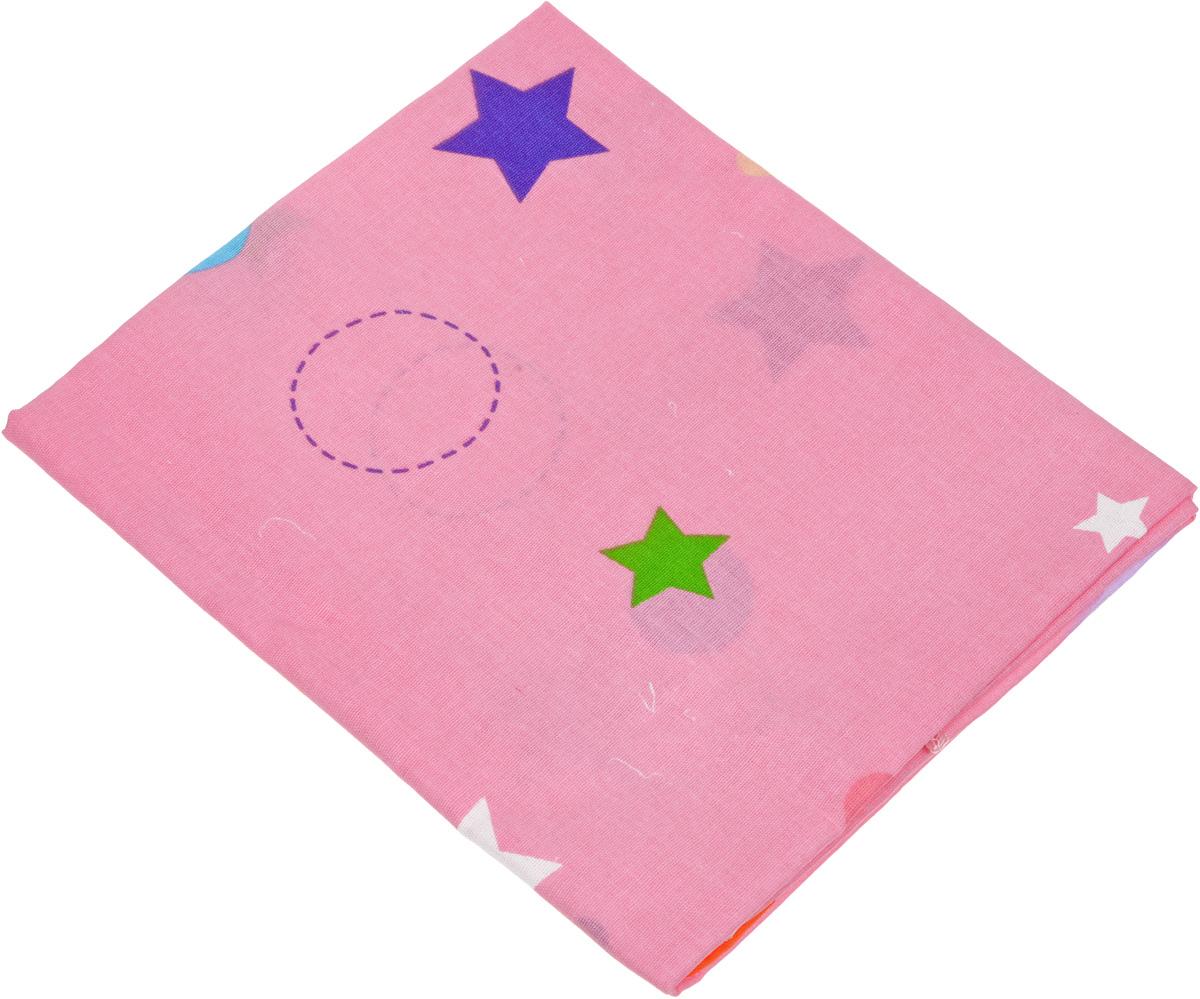 лучшая цена Bonne Fee Простыня детская Совы цвет розовый 70 х 120 см