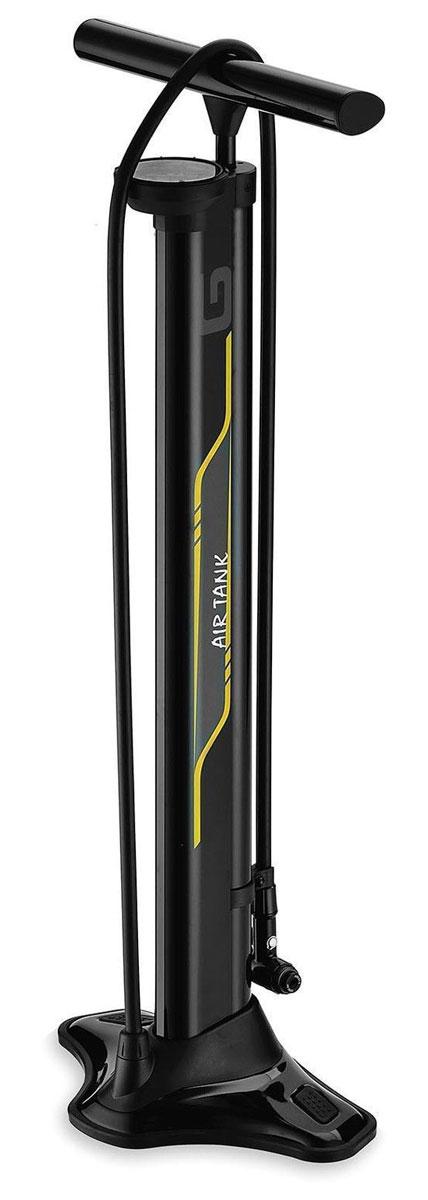 Насос велосипедный напольный Giyo GF-94T, металлический, цвет: черный, 120 PCI