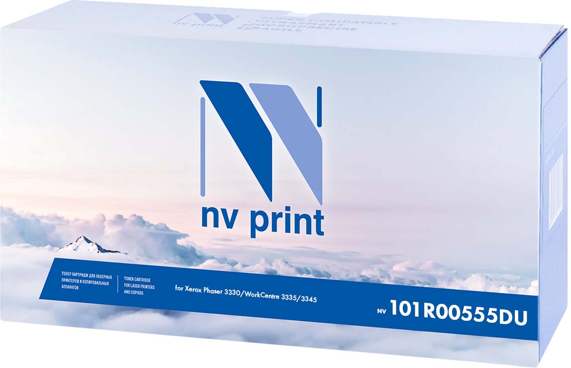 NV Print NV-101R00555DU, Black фотобарабан для Xerox Phaser 3330/WorkCentre 3335/3345 (30000k)