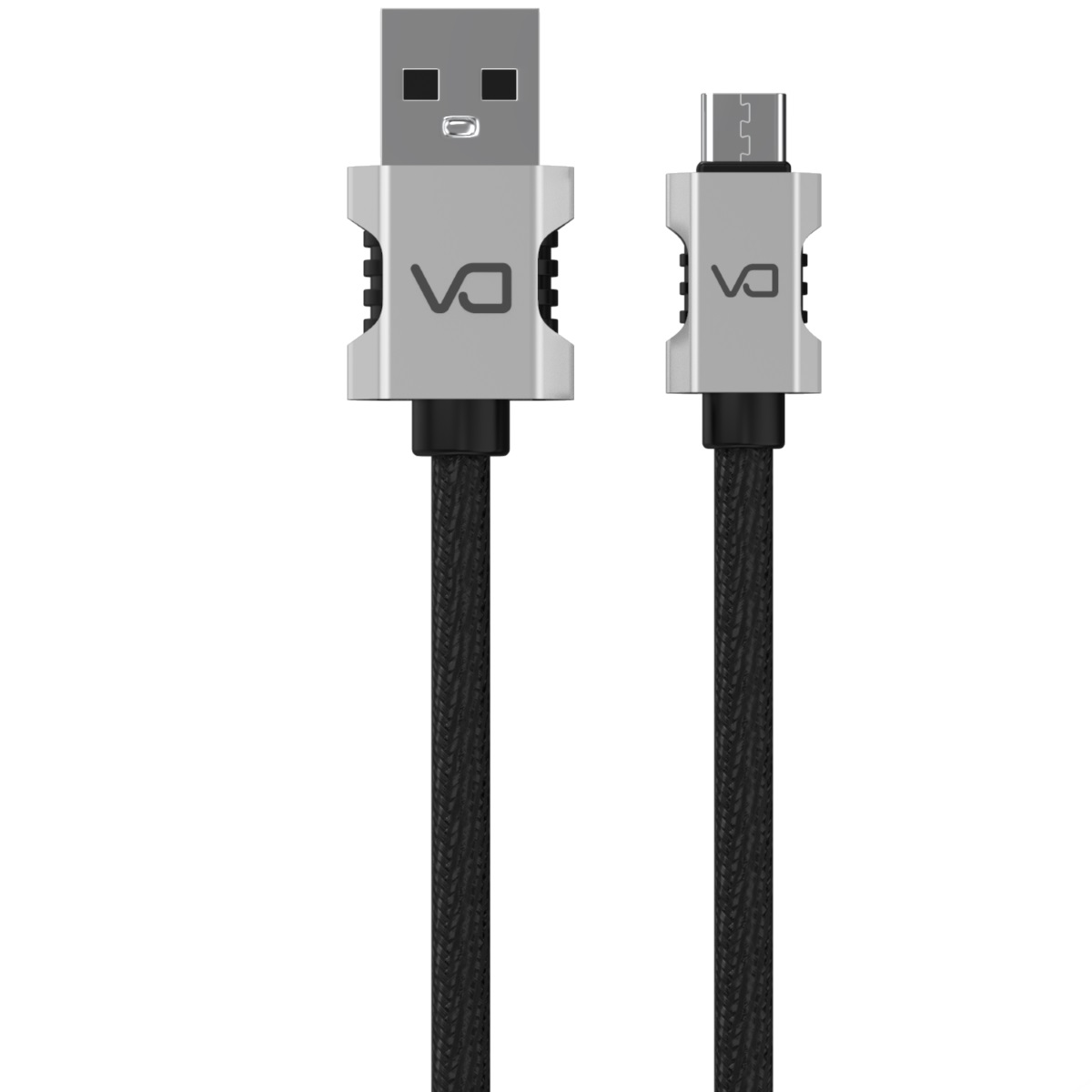 Кабель DA USB-Type C, 1 м, серебристый, черный кабель qumann usb usb type c 1 м металлическая оплётка серебристый