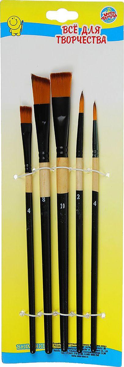 Школа талантов Набор кистей нейлон 5 шт 1505412 принадлежности для рисования спейс набор кистей 15 шт