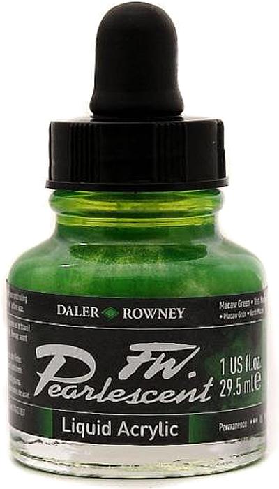 Daler Rowney Чернила перламутровые Fw Artists цвет зеленый 29,5 мл