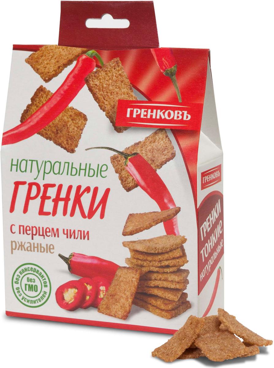 Гренковъ Сухарики-гренки ржано-пшеничные с перцем чили, 70 г гренковъ сухарики ржаные с луком и чесноком 100 г