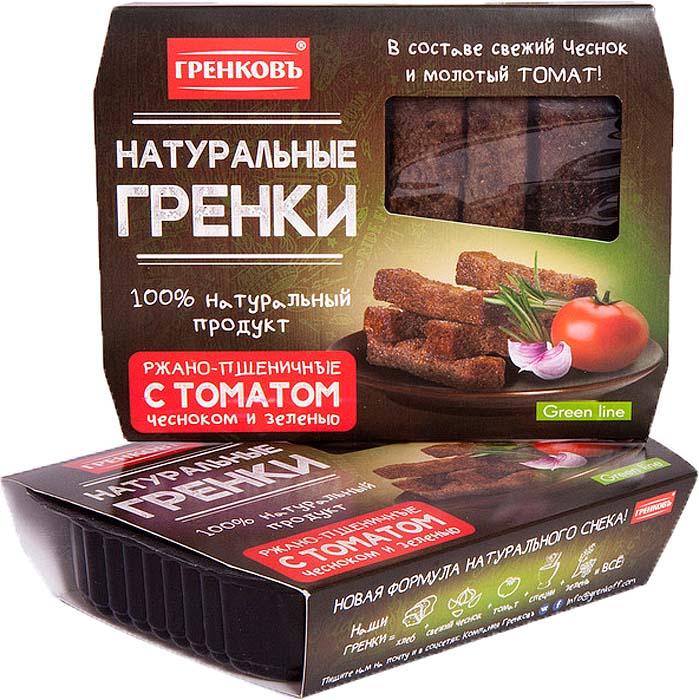 Гренковъ барные гренки ржано-пшеничные с томатом чесноком и зеленью, 70 г гренковъ сухарики ржаные с луком и чесноком 100 г