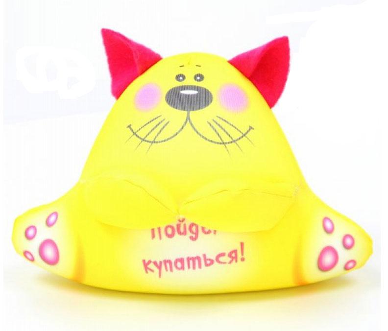 Игрушка для ванной Штучки, к которым тянутся ручки антистрессовая Аква крошки. Кот желтый lubby игрушка для ванной морская история цвет голубой желтый