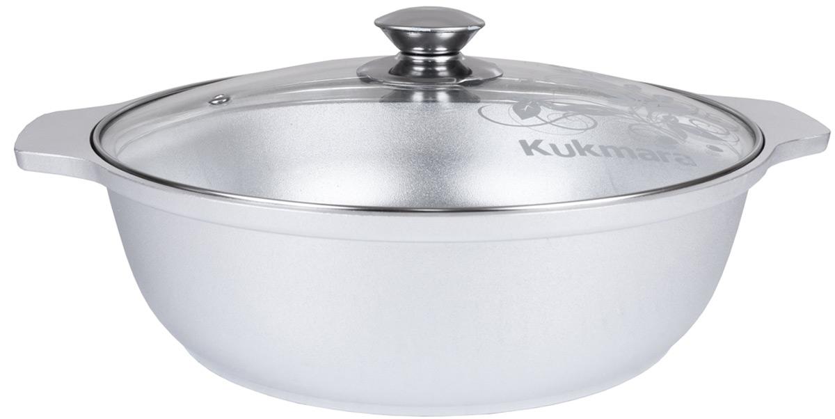 Кастрюля-жаровня Kukmara, с крышкой, 3 л кастрюля kukmara с крышкой с антипригарным покрытием 4 л кмт42а