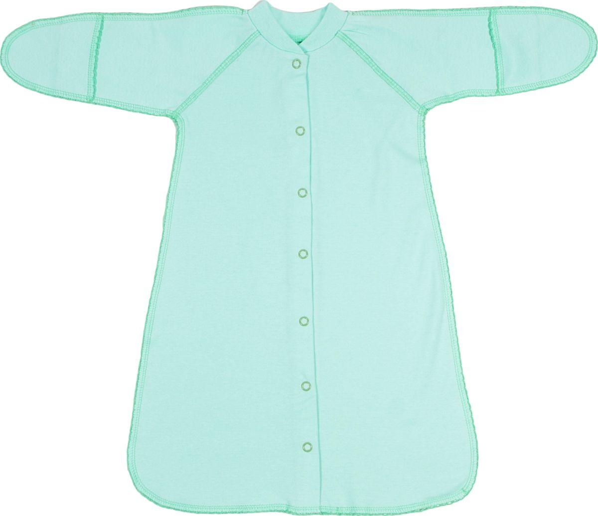 Спальный мешок для новорожденных Клякса, цвет: зеленый. 37-528. Размер 56 Клякса
